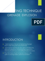 Optimizing Technique-grenade Explosion Method
