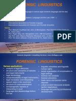 Forensic Linguistics Presentation
