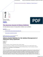 Chinese Herbal Medicine for the Optimal Management of Polycystic Ovary Syndrome - The American Journal of Chinese Medicine , Vol 45, No 03 - World Scientific
