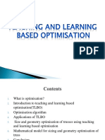 TEACHING AND LEARNING BASED OPTIMISATION