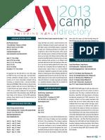 2013 Camp Information