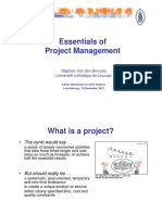 VandenBroucke Essentials of Project Management