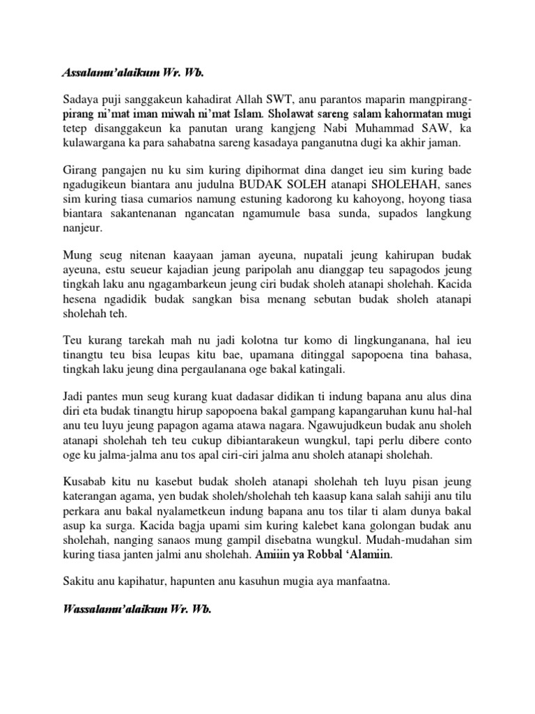 Pidato Basa Sunda