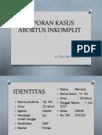 Lapsus Abortus Inkomplete