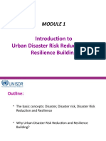 D1.MODULE 1- Why Urban DRR and Resilience Building, Introducing the Concepts