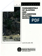 Fundamentals of Blasting and Reclamation Blasting Workshop