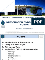 PDB 1023 - Introduction to Drilling and Coring