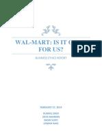 Ethics Report on Walmart