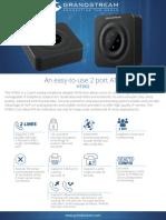 Grandstream GS-HT802 2-Port FXS Analog Telephone Adapter Datasheet