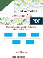 Example of Activities