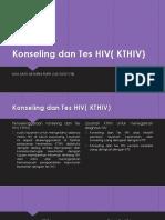 Konseling Dan Tes HIV( KTHIV)