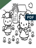 Mewarnai Gambar Hello Kitty 1