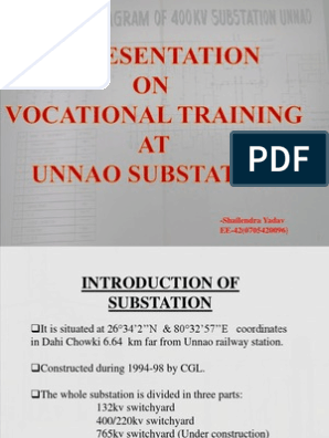 400kv Substation Training report   Electrical Substation   Transformer