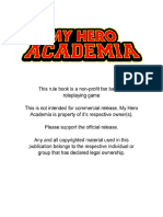 My Hero Academia Pen and Paper Version 1 0 | Leisure