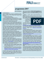 Master Degree Programmes Information Sheet