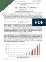A Review on Solar Photovoltaic Powerplant-ijaerdv04i0992895