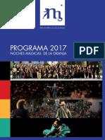 Programa Festival Noches Magicas 2017