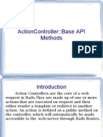 Action Controller Methods