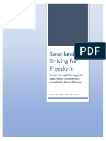 Swaziland Striving for Freedom Vol 27 July to September 2017