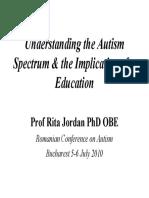 Rita Jordan Workshop Intelegerea-Autismului