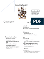 2001 Chemistry - Newington Without Solutions