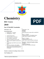 2010 Chemistry - Hurlstone With Solutions