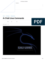 A-Z Kali Linux Commands
