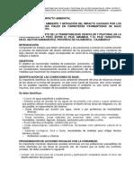 Mitigacion de Impacto Ambiental Av. Peru Entre Psje.amambal y Psje.yanacocha
