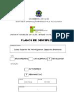 Planos de Curso- Design-2017