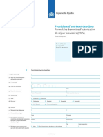 Formulaire de Demande de Visa Long Duree MVV (FR)