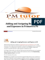 9. Adding and Assigning Resources and Expenses in Primavera P6