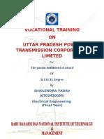 summer training report on unnao sub station