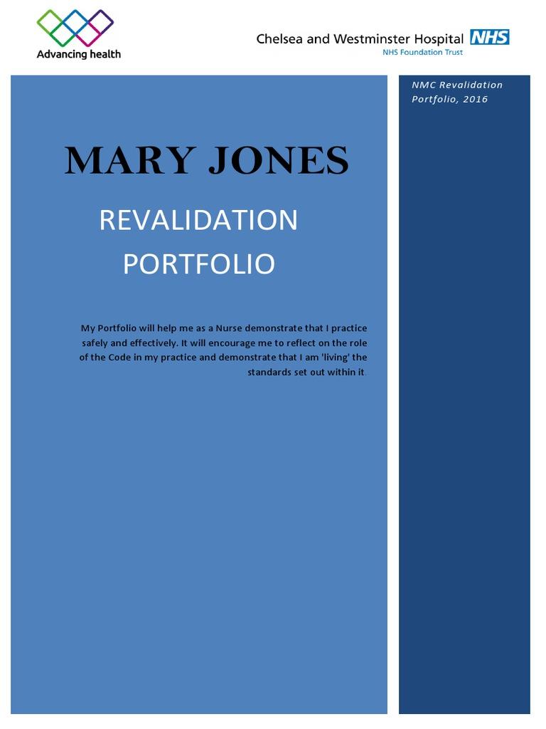 Nursing Revalidation Portfolio Example 2 | Nursing ...