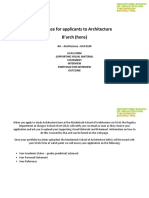 Guidance for Applicants to Architecture for Website