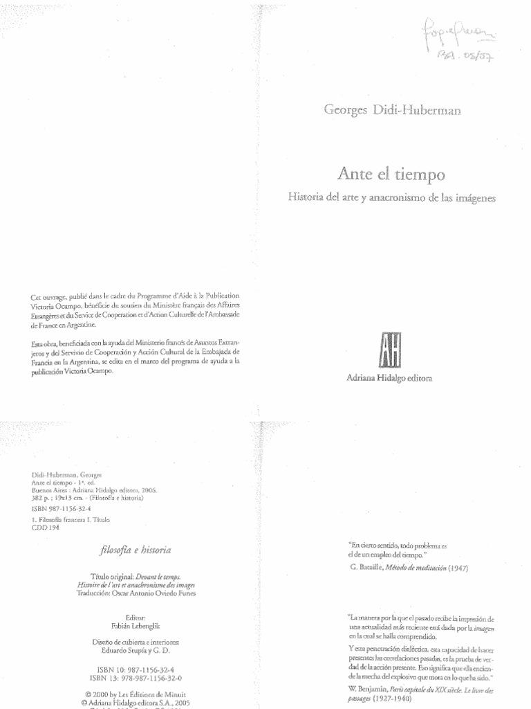 Didi- Huberman, Georges - Ante el tiempo. Pag. 3-79.pdf