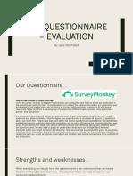 Pre Questionnaire - Evaluation