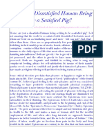 Are You a Dissatisfied Human Being or a Satisfied Pig?