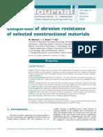 Vergelijking Abrasieve Weerstand Van Constructiematerialen