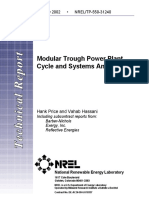Modular Trough Power Plant Cycle and Systems Analysis