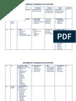 Activity Schedule Qcgh Fmch October