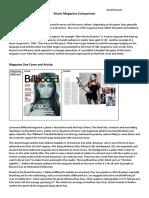 Music Magazine Comparison