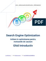 Ghid SEO Initiere in Optimizarea Pentru Google