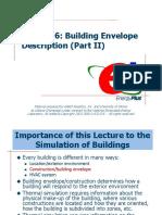 Lecture 06 Building Envelope