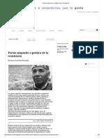 Poesía Mapuche o Poética de La Resistencia