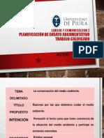 Semana 2B Ejemplo de Planificación Del Ensayo Argumentativo Ppt