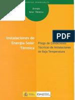 IDAE - Instalaciones de Energia SolarTermica