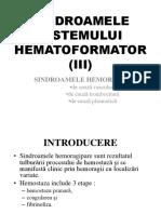 SINDROAMELE HEMORAGIPARE