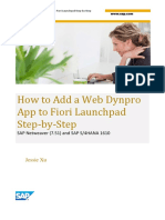 How to Add a Web Dynpro App to Fiori Launchpad Step-By-Step