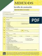 Cuadernillo de Anotacion Camdex