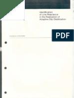 Identification of Line Reactance